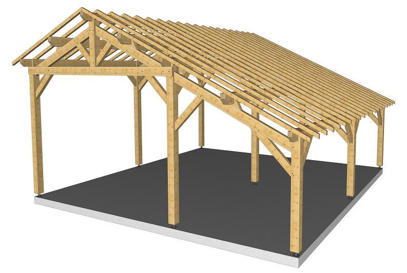 Abri camping car abri r gion centre for Construire un appentis en bois